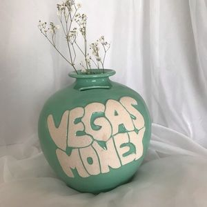 Vegas Money bank Flower Vase